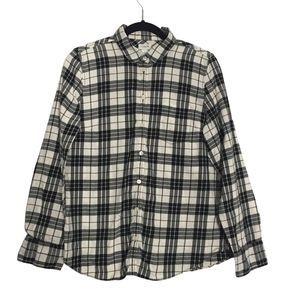 J.Crew Medium Flannel Black and White Shirt